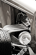 Monochrome Hot Rod Posters - Hot Rod Front End Monochrome Poster by M K  Miller