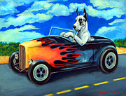 Great Dane Art Framed Prints - Hot Rod Harl Framed Print by Lyn Cook