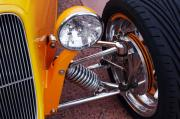 Car Detail Prints - Hot Rod Headlight Print by Jill Reger
