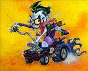 Bat Mixed Media Posters - Hot Rod Joker Poster by Chris Mason