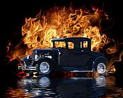 Flood Prints - Hot Rod Print by Patricia Stalter