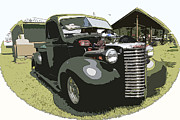 Chevy Pickup Prints - Hot Rod Pickup Print by Steve McKinzie