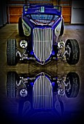 Roadster Grill Posters - Hot Rod Reflection Poster by Perry Webster