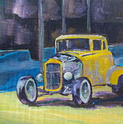 Wheels Painting Framed Prints - Hot Rod Framed Print by Sandy Tracey