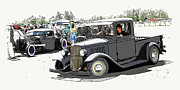 Hot Rod Show Trucks Print by Steve McKinzie
