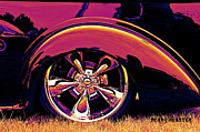 Purple Hot Rod Posters - Hot Rod Sunset Poster by Perry Webster