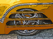 Sam Sheats Photo Framed Prints - Hot Rod Wheel Cover Framed Print by Samuel Sheats