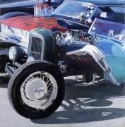 Fairs Paintings - Hot Rods by Steve Metzger