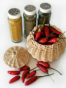 Basket Prints - Hot Spice Print by Carlos Caetano