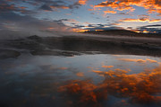 Hot Springs In The Bolivian Altiplano. Print by Eric Bauer