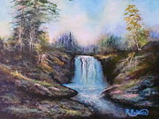 Arkansas Paintings - Hot Springs Water Fall by Robert Ballance