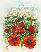 Poppies Art Gift Prints - Hot Summer Day IV Print by Elisabeta Hermann