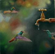 Hummingbird Pastels - Hot Summer Days by Ceci Watson