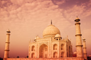 Architecture Photo Prints - Hot Taj Mahal Print by Nila Newsom