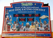 Streetscene Digital Art Prints - Hotdog Eating Contest Time Print by Rob Hans
