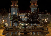Christmas Holiday Scenery Art - Hotel Alcazar by Kenneth Albin