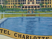 Murals - Hotel Charlotte Harbor close-up by Charles Peck