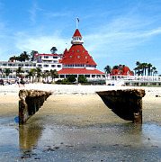 Some Like It Hot Prints - Hotel Del Coronado Print by Jerome Stumphauzer
