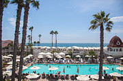 Coronado Beach Framed Prints - Hotel Del Coronado Pool  Framed Print by Ralf Kaiser