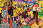 Homeless Man Prints - Hotel Essex  Print by Bob Christopher