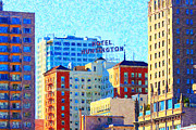 Highrise Building Framed Prints - Hotel Huntington Framed Print by Wingsdomain Art and Photography