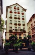 Hotel In Down Town Zurich Switzerland Print by Susanne Van Hulst