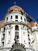 Hotel Negresco In Nice Print by Carla Parris