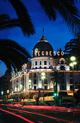 Trees Light Windows Prints - Hotel Negresco Print by Inge Johnsson