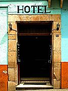 Portal Framed Prints - Hotel Portal Framed Print by Olden Mexico