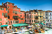 Outdoor Cafe Photo Prints - Hotel Rialto    Venice Italy Print by Jon Berghoff