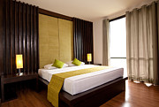 Business-travel Art - Hotel-room by Atiketta Sangasaeng