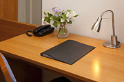 Desk Photo Prints - Hotel Room Desk Print by Jaak Nilson