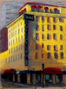 Downtown Pastels Originals - Hotel San Carlos by Sandra Ortega