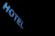 Signage Photo Posters - Hotel Poster by Stylianos Kleanthous