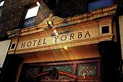 Garage Framed Prints - Hotel Yorba Print B  Framed Print by Christopher  Chouinard