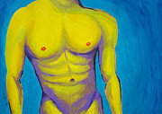 Nude Man Painting Prints - Hottie Print by Randall Weidner