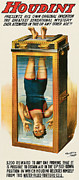 Illusionist Posters - Houdini Water Filled Torture Cell Poster by Unknown