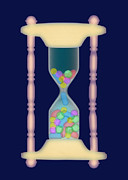 Tablets Prints - Hourglass, X-ray Print by D. Roberts