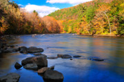 Housatonic River Posters - Housatonic Meadows Autumn landscape Poster by Thomas Schoeller