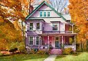 Realty Posters - House - Cranford NJ - An Adorable house Poster by Mike Savad