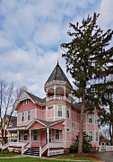 Painted Lady Posters - House - Flemington NJ - The Pink Lady Poster by Mike Savad