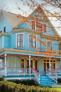 Victorian Inn Prints - House - Painted Lady Print by Mike Savad