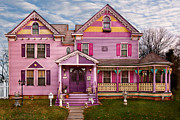 Estate Posters - House - Victorian - I love bright colors Poster by Mike Savad