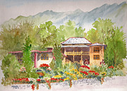 Bir Prints - House and Garden at Bir Print by Mayank M M Reid