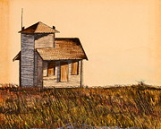 Middle Of Nowhere Prints - House Print by Anthony Masterjoseph