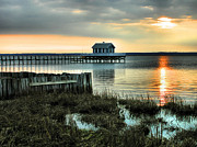 Chincoteague Framed Prints - House At The End Of The Pier II Framed Print by Steven Ainsworth