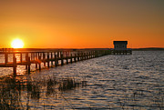 Chincoteague Island Prints - House At The End Of The Pier III Print by Steven Ainsworth