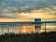 Framed Landscape Framed Prints - House At the End of the Pier Framed Print by Steven Ainsworth