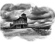 Sullen Framed Prints - House at the End of the Road Framed Print by Gordon Engebretson