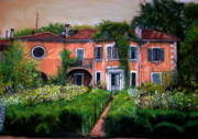 Old House Pastels - House Century XVIII by Leonor Thornton